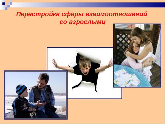 Перестройка сферы взаимоотношений со взрослыми