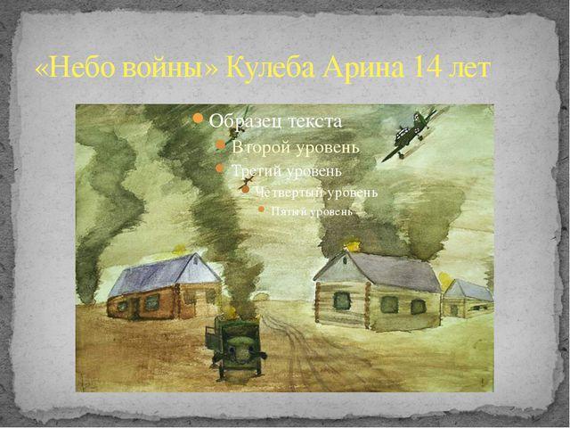 «Небо войны» Кулеба Арина 14 лет