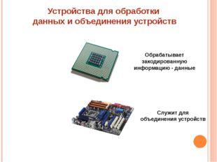Устройства для обработки данных и объединения устройств Процессор Системная (