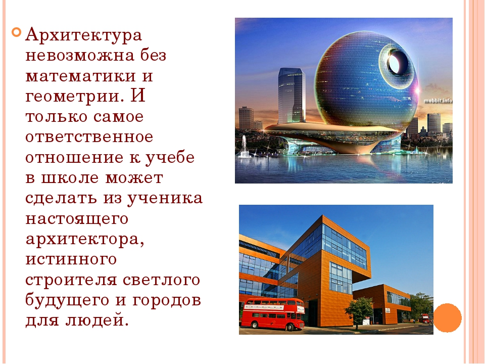 Архитектура невозможна без математики и геометрии. И только самое ответствен...