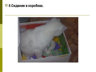 8.Сидение в коробках.