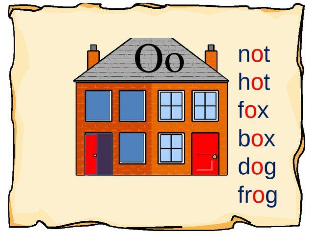Oo not hot fox box dog frog