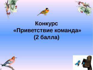 Конкурс «Приветствие команда» (2 балла) Valya