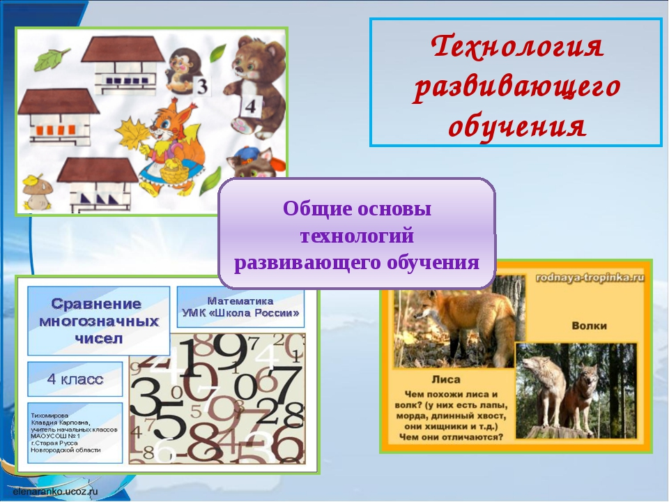 Технология развивающего обучения Общие основы технологий развивающего обучения