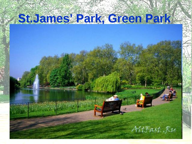 St.James' Park, Green Park