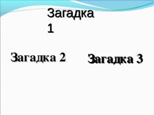 Загадка 1 Загадка 2 Загадка 3