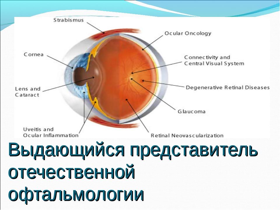 Выдающийся представитель отечественной офтальмологии