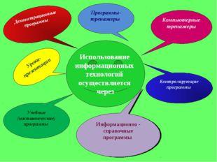 Использование информационных технологий осуществляется через Демонстрационные