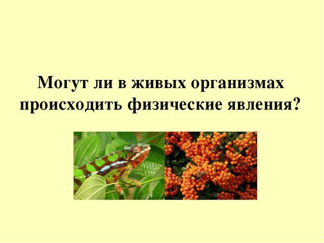 Могут ли в живых организмах происходить физические явления?