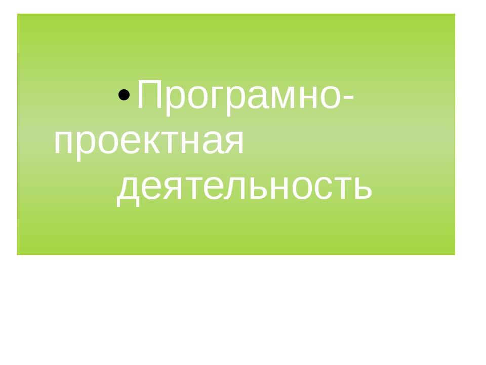 Програмно-проектная деятельность