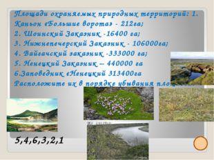 Площади охраняемых природных территорий: 1. Каньон «Большие ворота» - 212га;