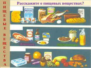 Белки Жиры Углеводы П И Щ Е В Ы Е В Е Щ Е С Т В А Расскажите о пищевых вещест