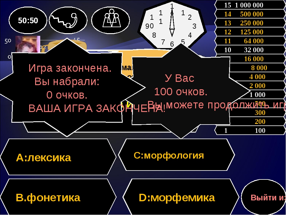 Вопрос: В каком разделе русского языка изучается состав слов A:лексика С:мор...