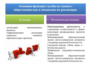 - Инновационная деятельность в учреждении осуществляется в форме реализации