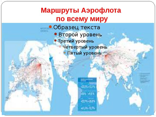 Маршруты Аэрофлота по всему миру