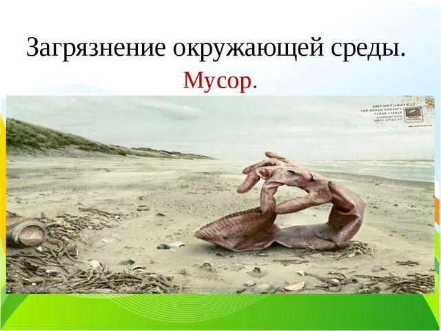 Загрязнение окружающей среды. Текст слайда Мусор.