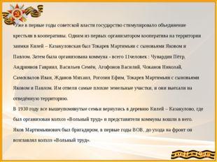 Уже в первые годы советской власти государство стимулировало объединение кре