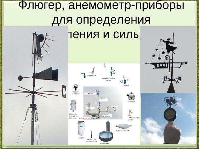 Флюгер, анемометр-приборы для определения направления и силы ветра
