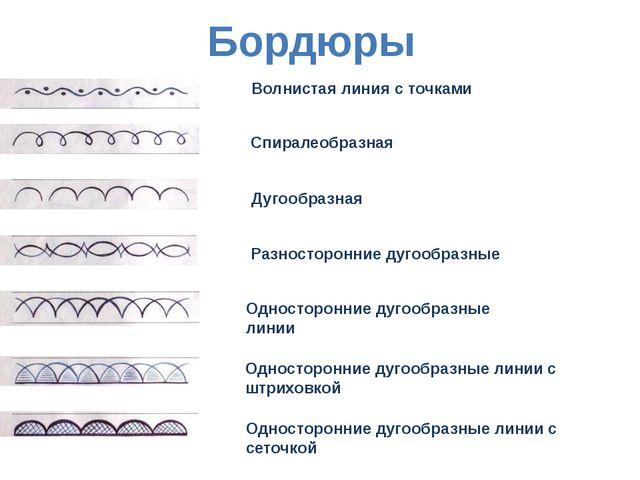 Волнистая линия с точками Спиралеобразная Дугообразная Разносторонние дугообр...