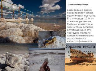 Аральское море-озеро в настоящее время представляет собой практически пустыню