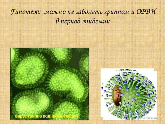 Гипотеза: можно не заболеть гриппом и ОРВИ в период эпидемии