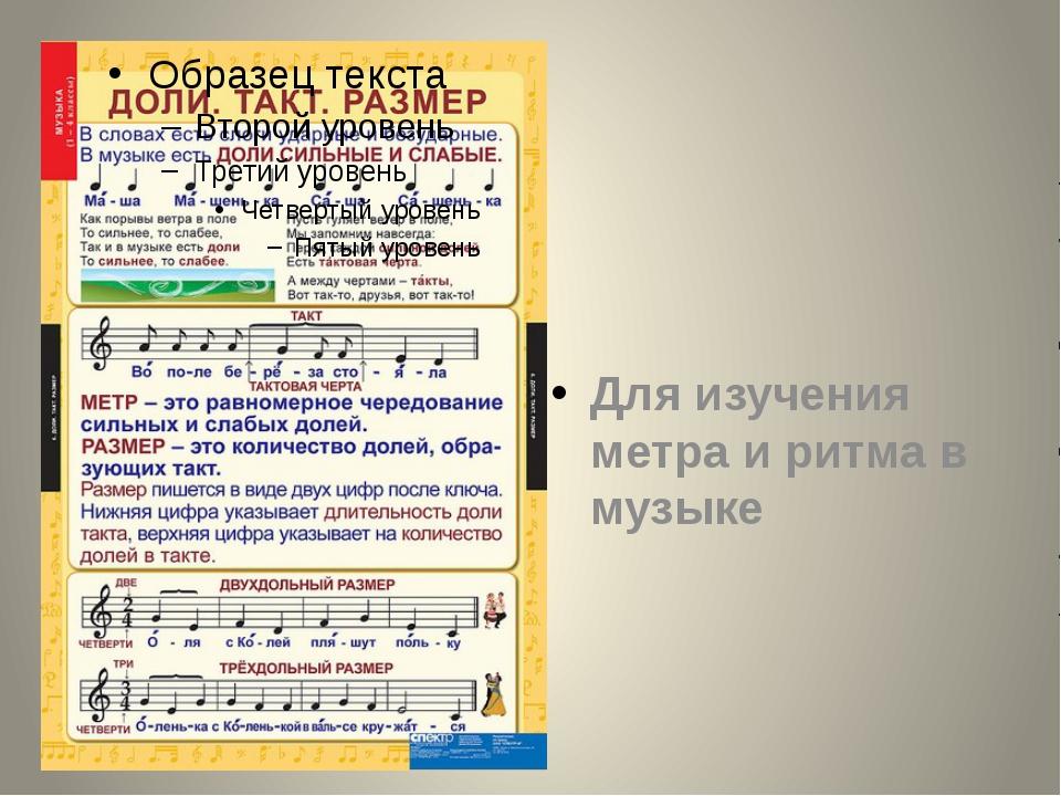 Для изучения метра и ритма в музыке
