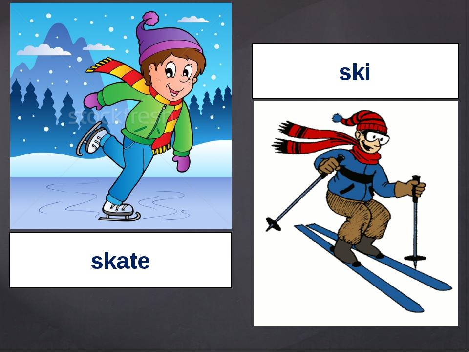 skate ski