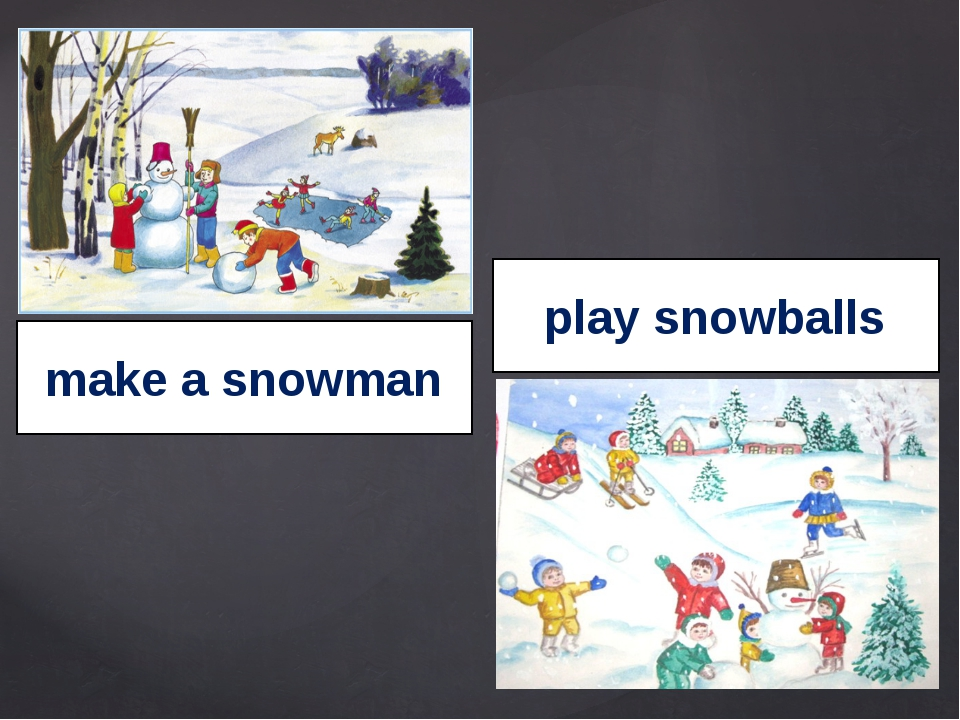 make a snowman play snowballs