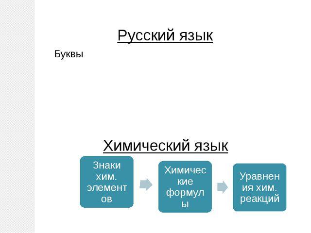 Русский язык Химический язык