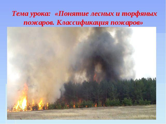 Открытый урок по обж 7 класс лесные и торфяные пожары