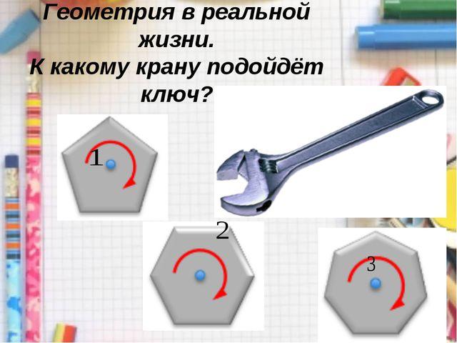 Геометрия в реальной жизни. К какому крану подойдёт ключ?