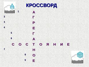 КРОССВОРД 	1		 А								 2				 Г				 3				 Р							 4				 Е							 	5			 Г