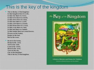 This is the key of the kingdom This is the key of the kingdom:  In that kingd
