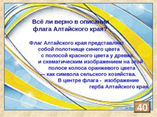 Флаг Алтайского края представляет собой полотнище красного цвета сполосой си