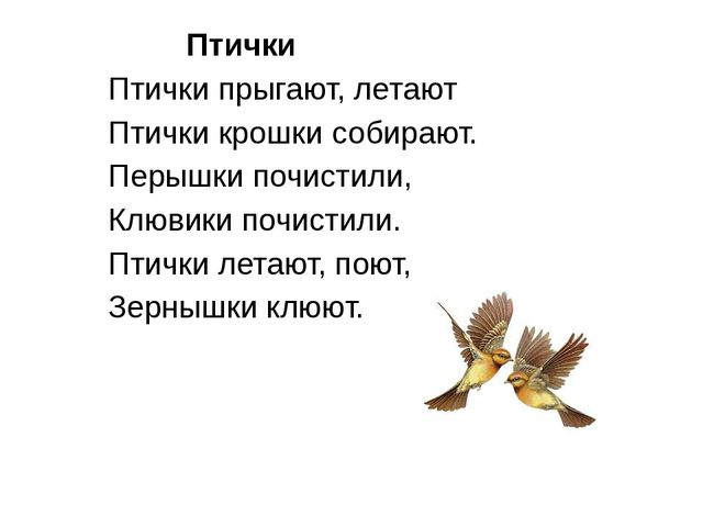 Птички Птички прыгают, летают Птички крошки собирают. Перышки почистили, Клю...