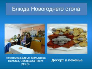 Блюда Новогоднего стола Тюменцева Дарья, Малышева Наталья, Скворцова Настя 2
