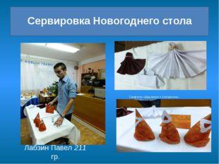 Сервировка Новогоднего стола Лабзин Павел 211 гр. Салфетки «Дед мороз и Снег