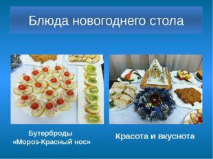 Блюда новогоднего стола Бутерброды «Мороз-Красный нос» Красота и вкуснота