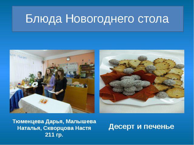 Блюда Новогоднего стола Тюменцева Дарья, Малышева Наталья, Скворцова Настя 2...