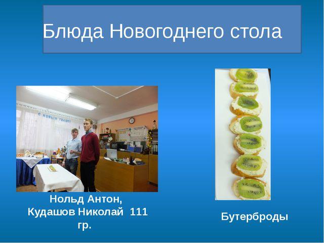 Блюда Новогоднего стола Бутерброды Нольд Антон, Кудашов Николай 111 гр.