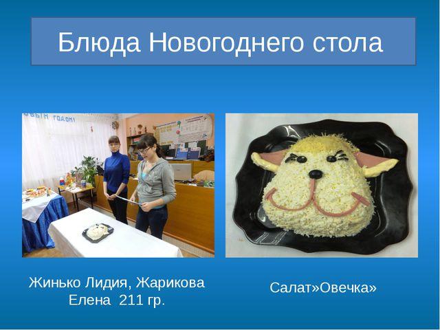 Блюда Новогоднего стола Жинько Лидия, Жарикова Елена 211 гр. Салат»Овечка»