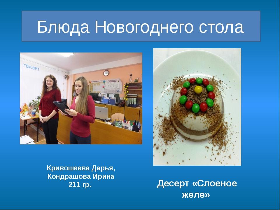 Блюда Новогоднего стола Десерт «Слоеное желе» Кривошеева Дарья, Кондрашова И...