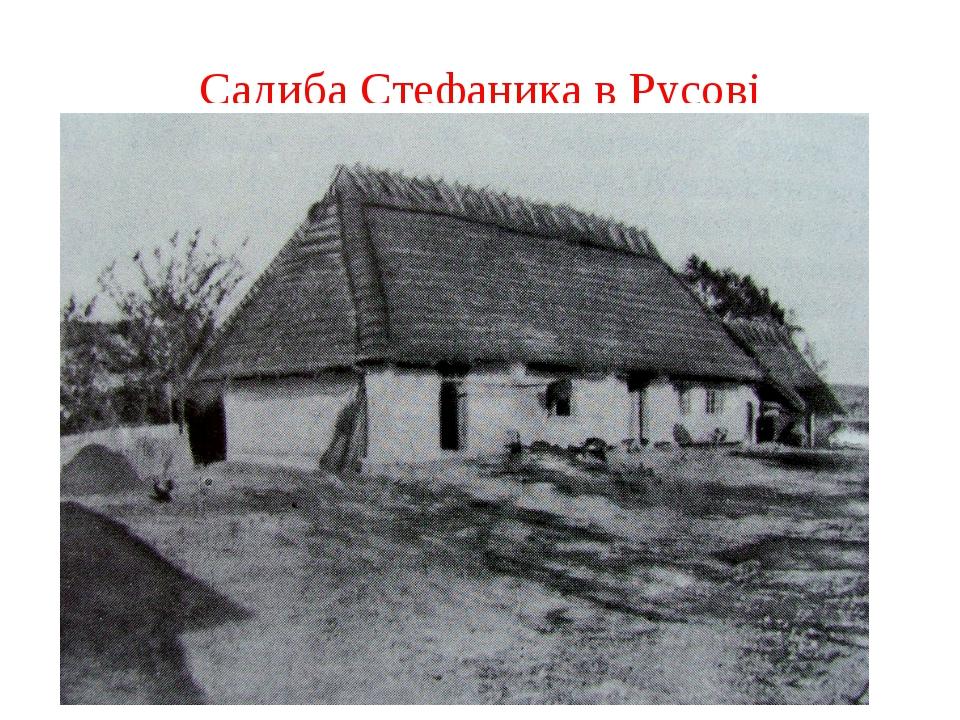 Садиба Стефаника в Русові