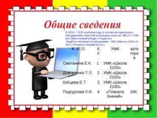В 2014 – 2015 учебном году в состав методического объединения учителей началь
