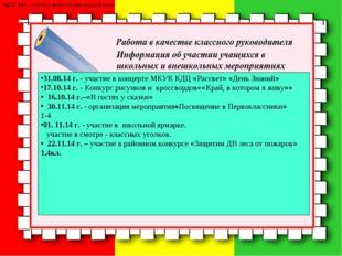 22.12. 14 г. - участие в акции «Подари игрушку ёлке». 31.08.14 г. - участие в