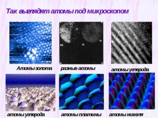 Так выглядят атомы под микроскопом Атомы золота разные атомы атомы углерода а