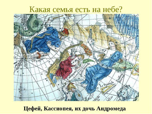 Какая семья есть на небе? Цефей, Кассиопея, их дочь Андромеда