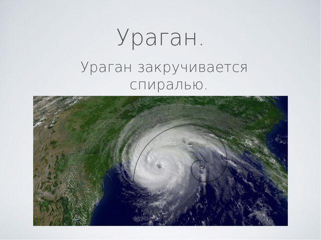Ураган. Ураган закручивается спиралью.