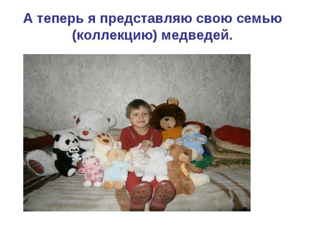 А теперь я представляю свою семью (коллекцию) медведей.