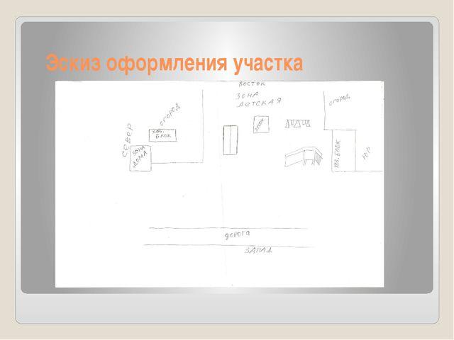 Эскиз оформления участка